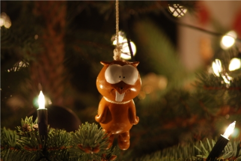 Lemming im Christbaum