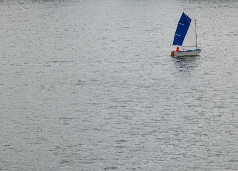 kleiner Kapitän auf großer See